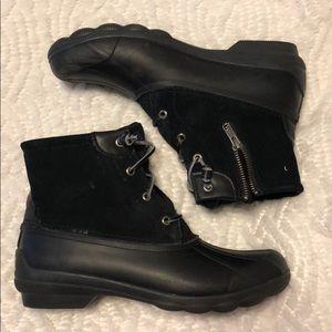 Sperry Topsider Black Duck Boots Sz 9 Women's